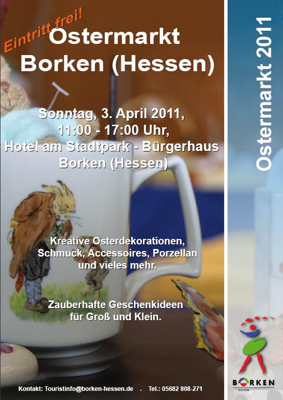 Plakat 13. Borkener Ostermarkt 2011