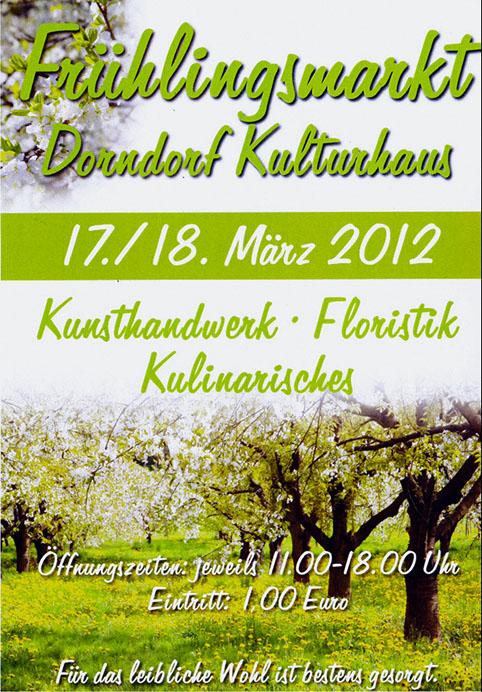 Frühlingsmarkt Dorndorf 2012
